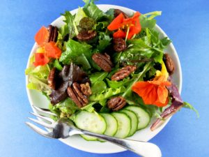 Sweet and Spicy Pecans in Salad