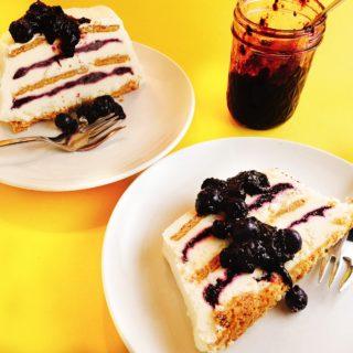Blueberry-Lemon Icebox Cake with jam