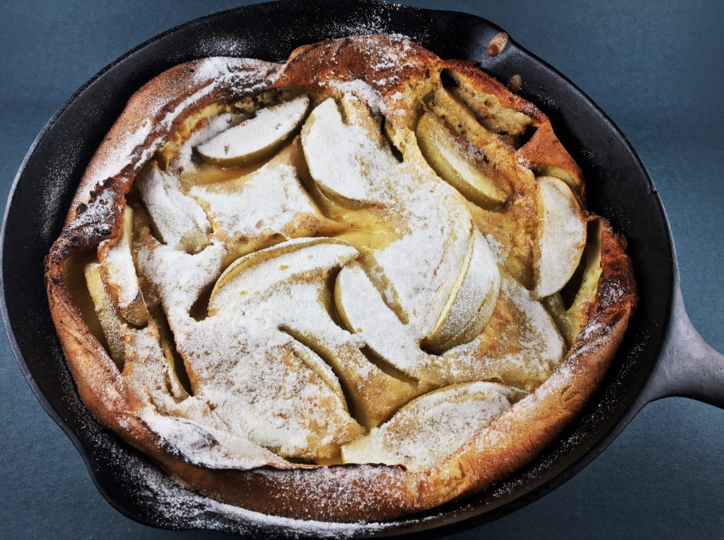 Brown Butter Dutch Baby with Apples