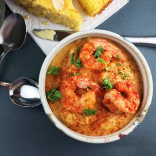 Corn Chowder with Spicy Shrimp
