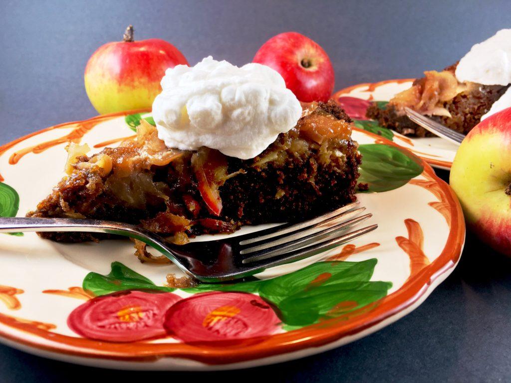 Apple Gingerbread Cake