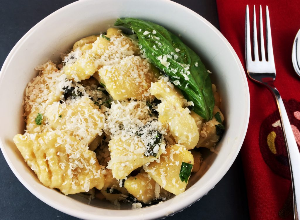 Homemade Gnocchi in bowl