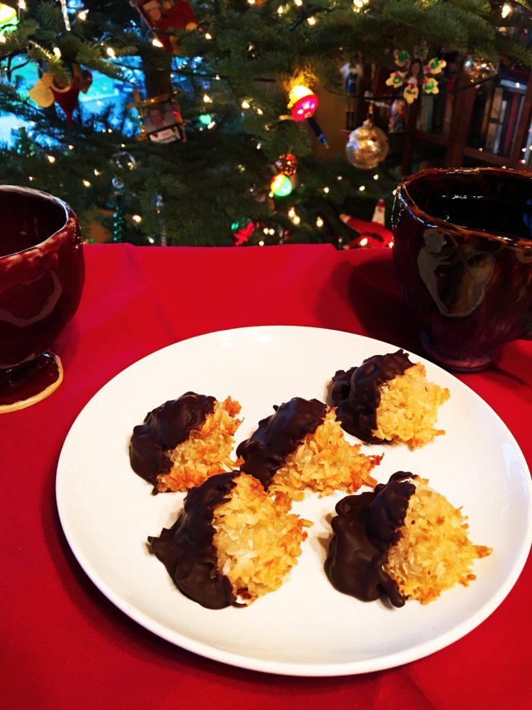 GF Chocolate-Dipped Macaroons