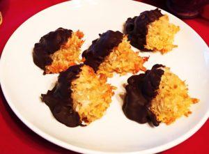 Gluten-Free Chocolate Dipped Macaroons