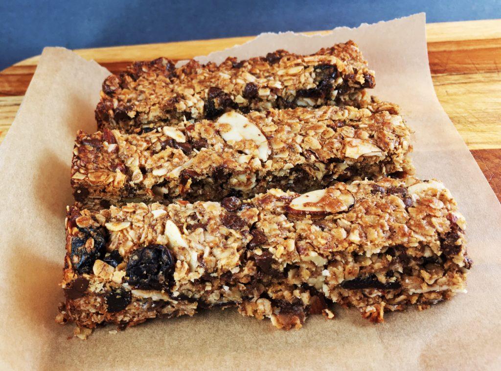 Chocolate-Pecan-Cherry Granola Bars