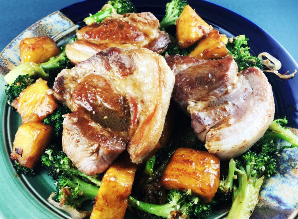 Pork Pineapple Sesame Broccoli