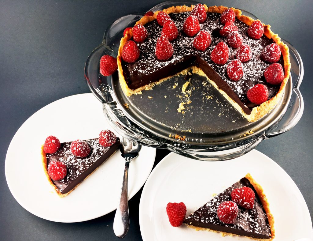 French Chocolate Tar with Brown Butter Crust
