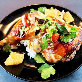 Soy Sauce and Citrus Marinated. Chicken