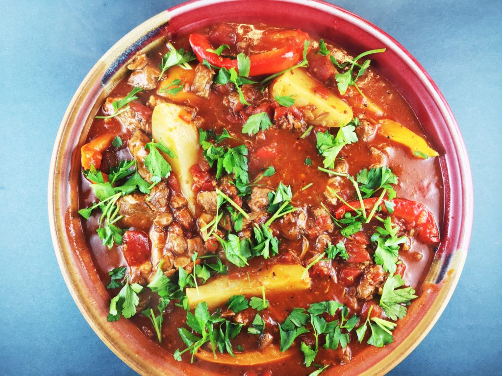Lamb Ragu with Peppers and Potatoes