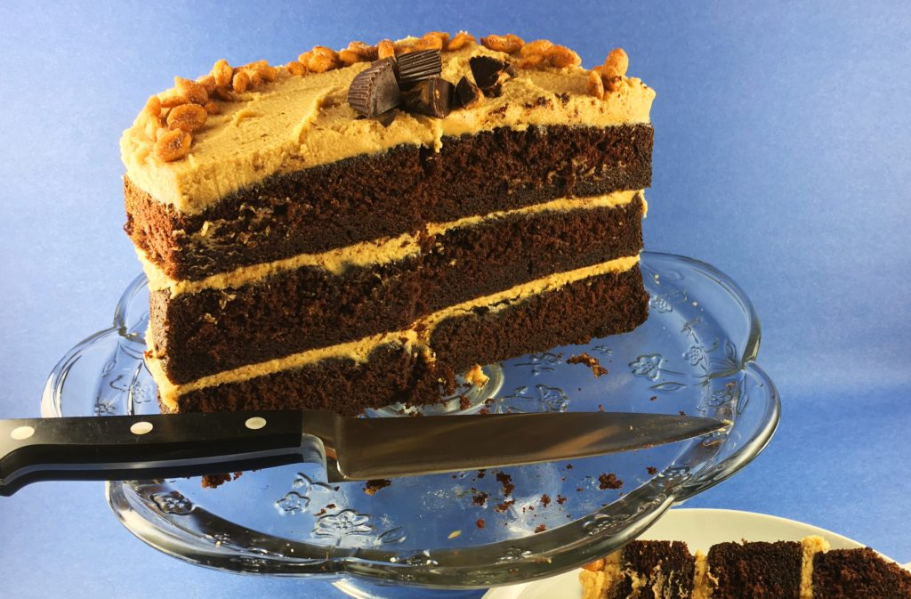 Chocolate Cake Peanut Butter Frosting