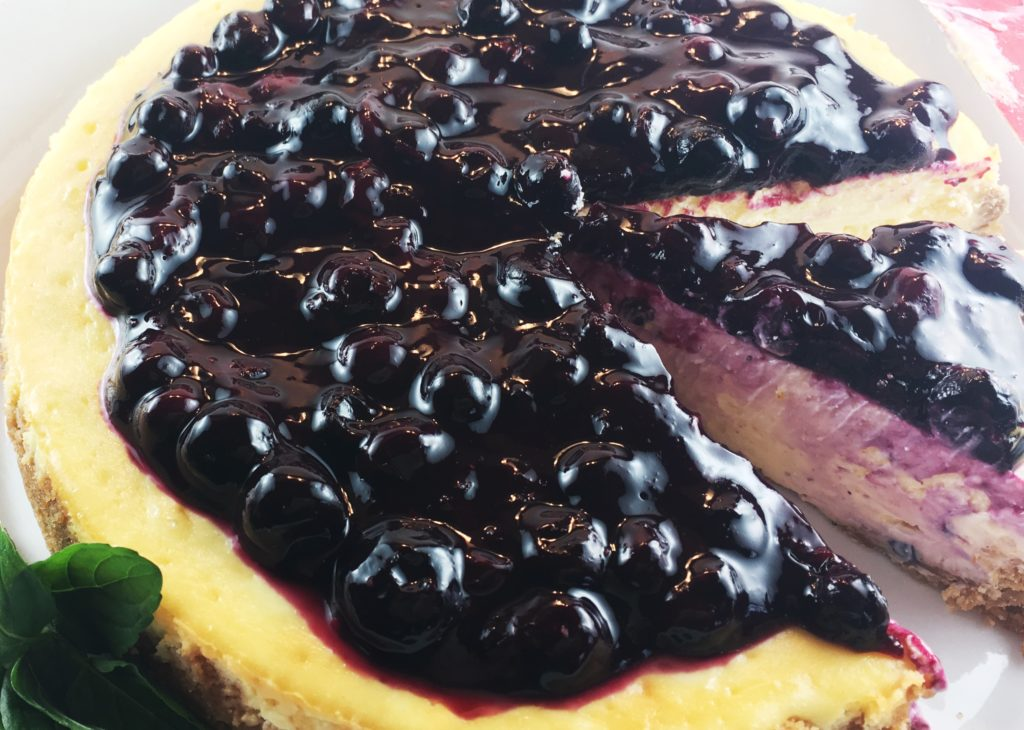 Lemon Cheesecake Blueberry Sauce