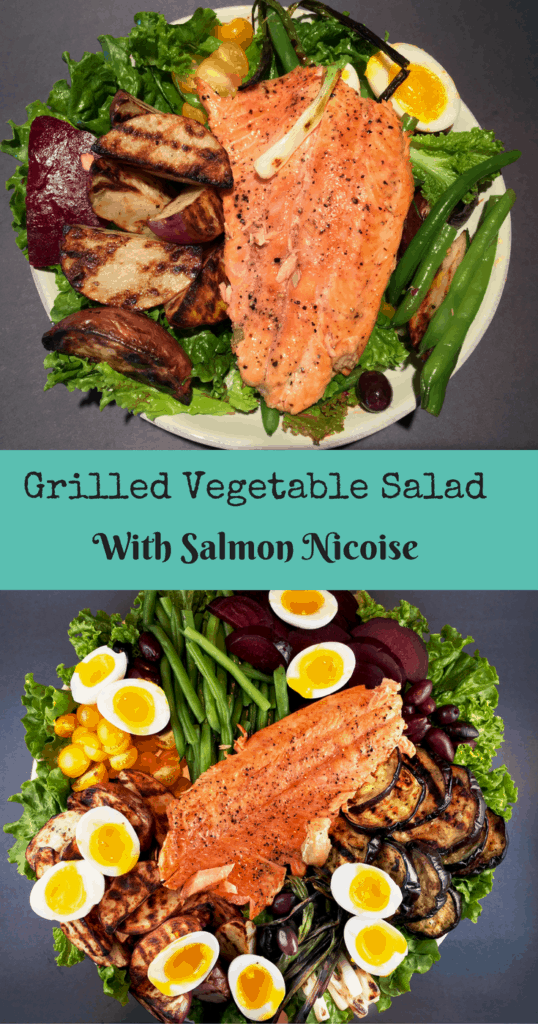 Grilled Vegetable Salad Nicoise with Salmon