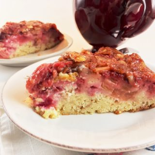Strawberry Rhubarb Upside Down Cake