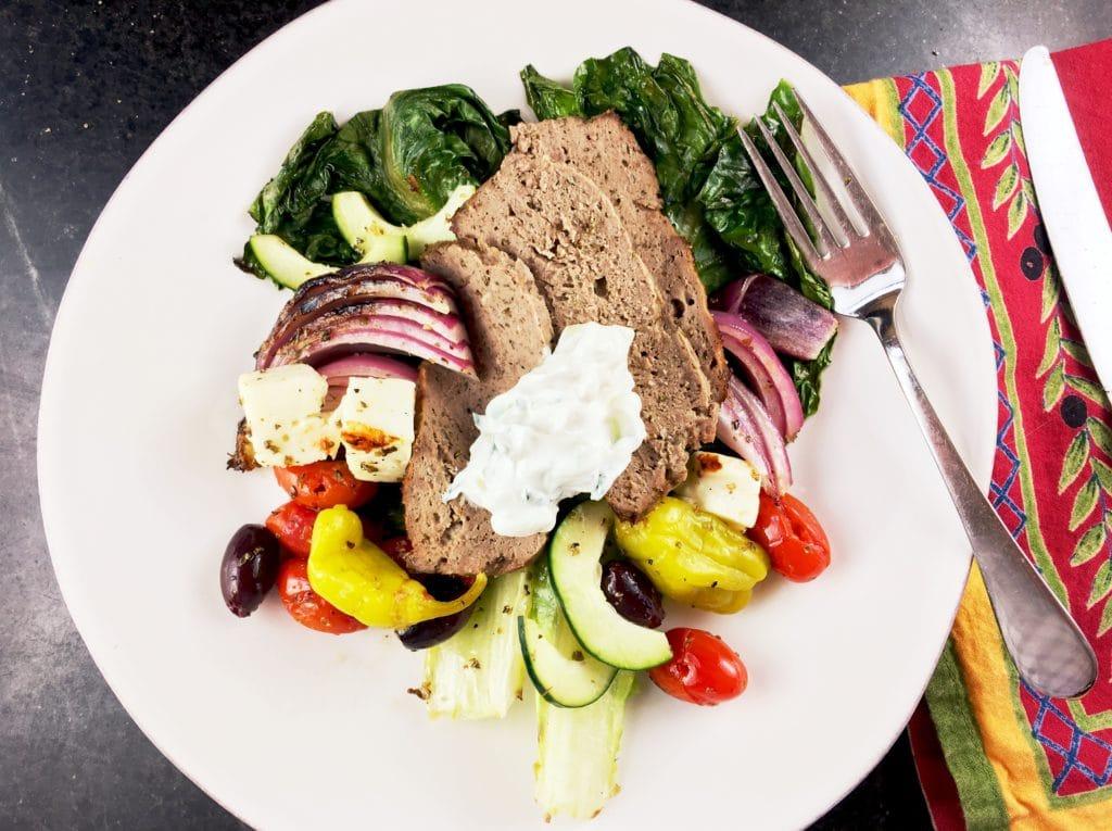 Lamb Gyros Meat Greek Salad