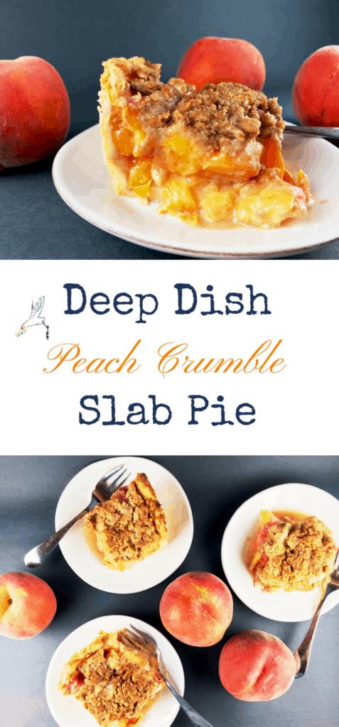 Deep Dish Peach Crumble Pie