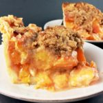 Peach Crumble Slab Pie