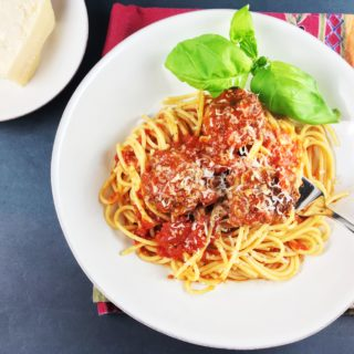 Easy Spaghetti and Meatballs Marinara
