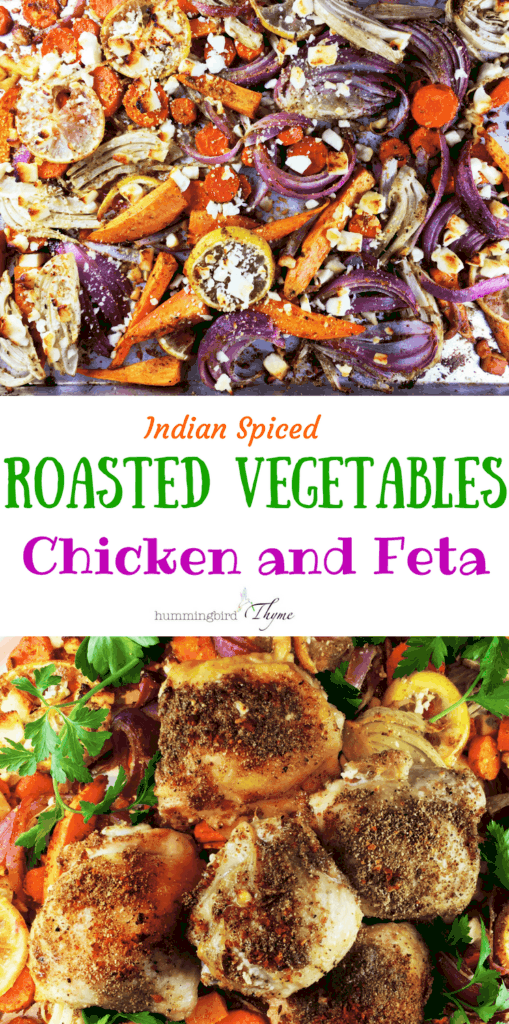 Roasted Vegetables Chicken Feta