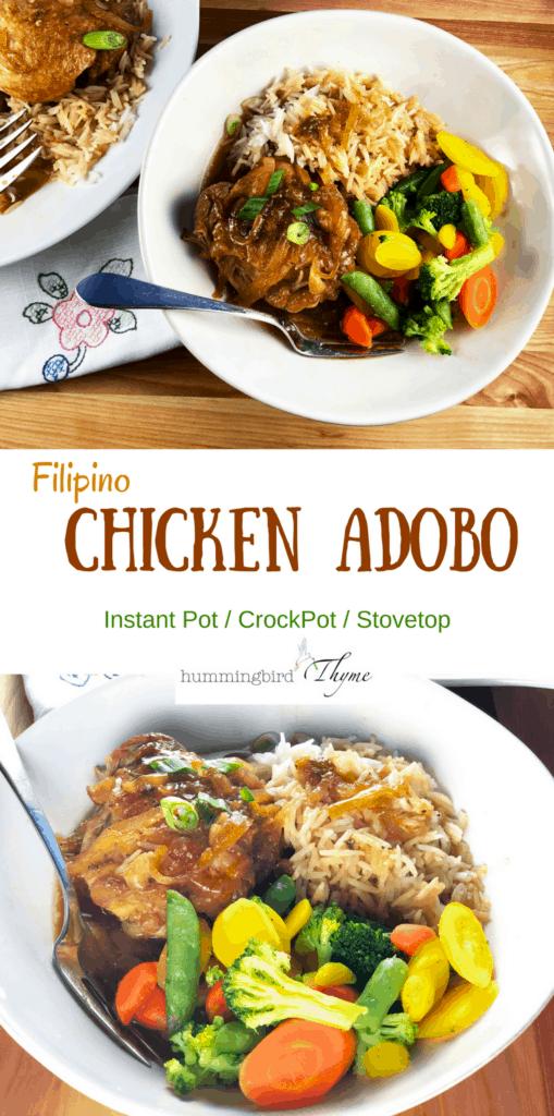 Chicken Adobo Instant Pot / CrockPot