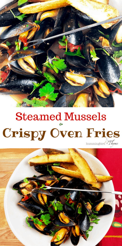Steamed Mussels & Crispy Oven Fries