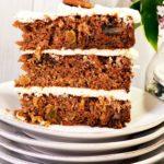 Triple Layer Carrot Cake Slice