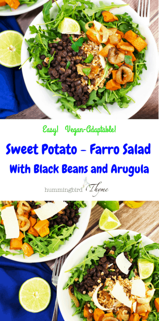 Roasted Sweet Potato Salad with Farro and Black Beans