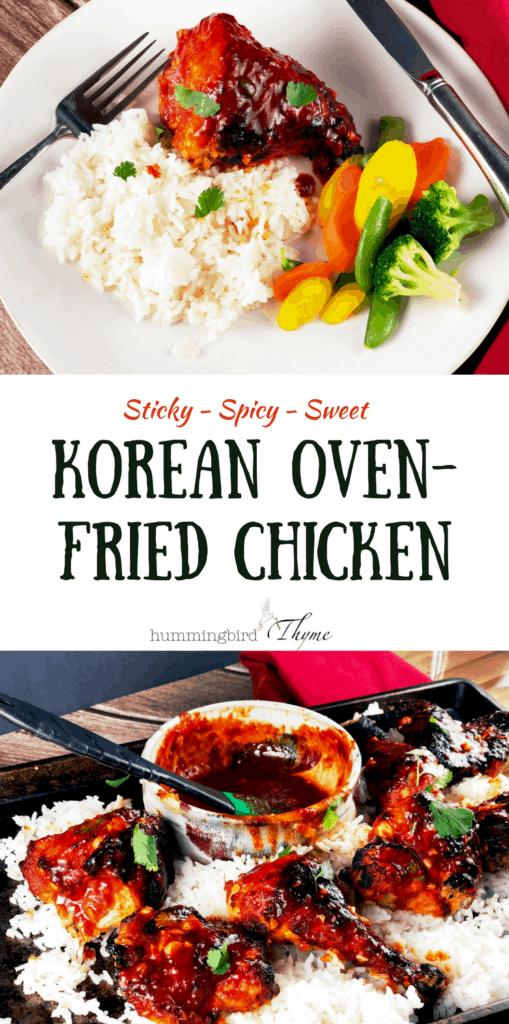 Korean Oven Fried Chicken