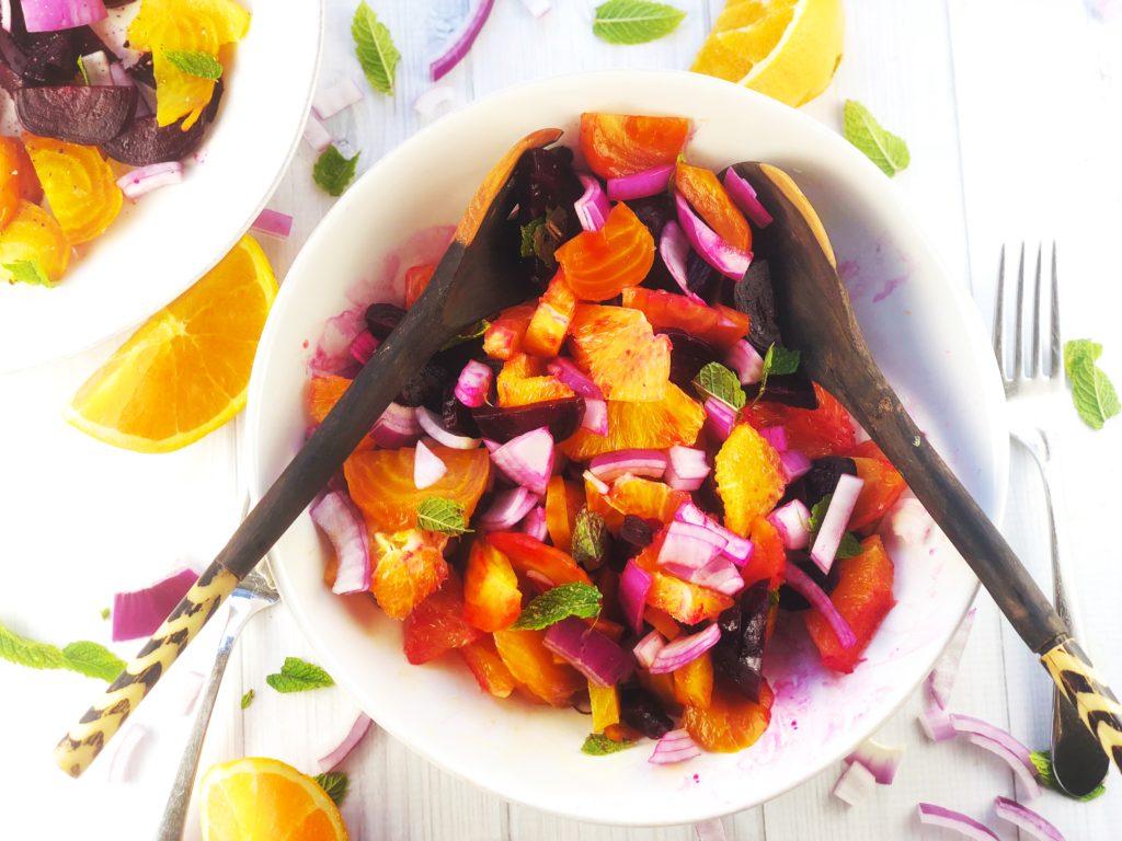 Anthony Bourdain Beet Orange Onion Mint Salad