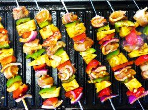 Grilled Hawaiian Chicken Bacon Pineapple Skewers