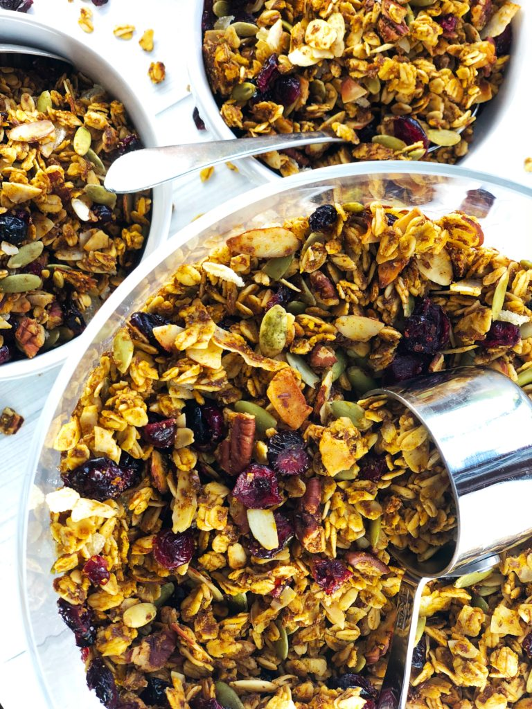 Easy Healthy Pumpkin Spice Granola