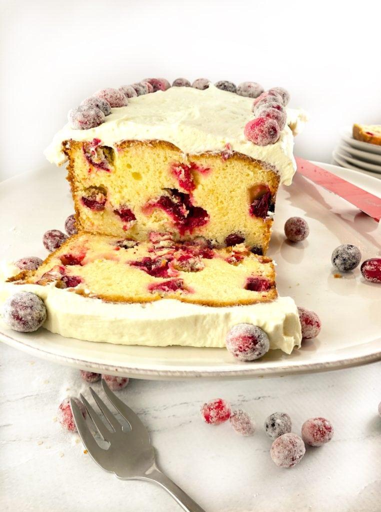 White Chocolate Cranberry Cake