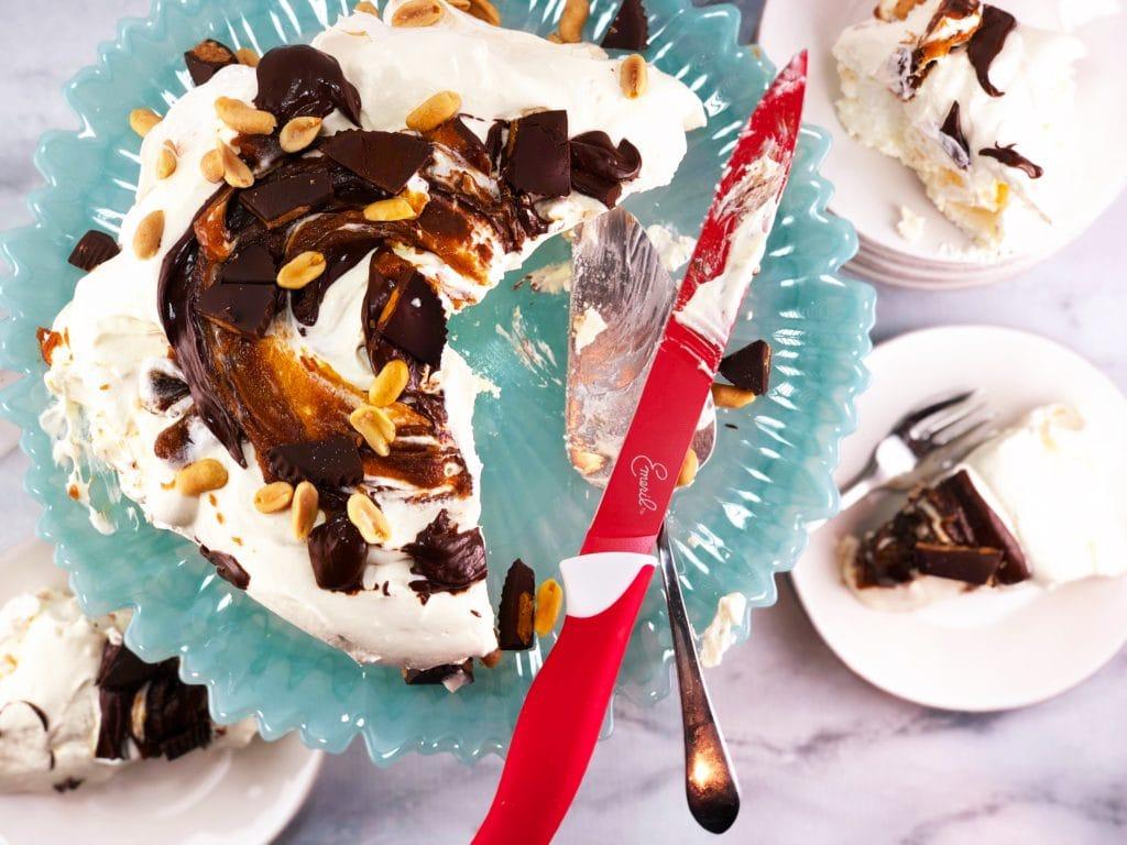 Chocolate Peanut Butter Pavlova