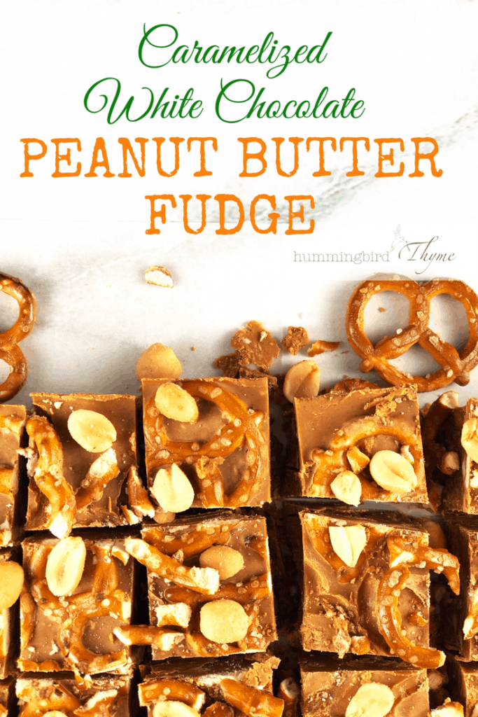 Caramelized White Chocolate Peanut Butter Fudge