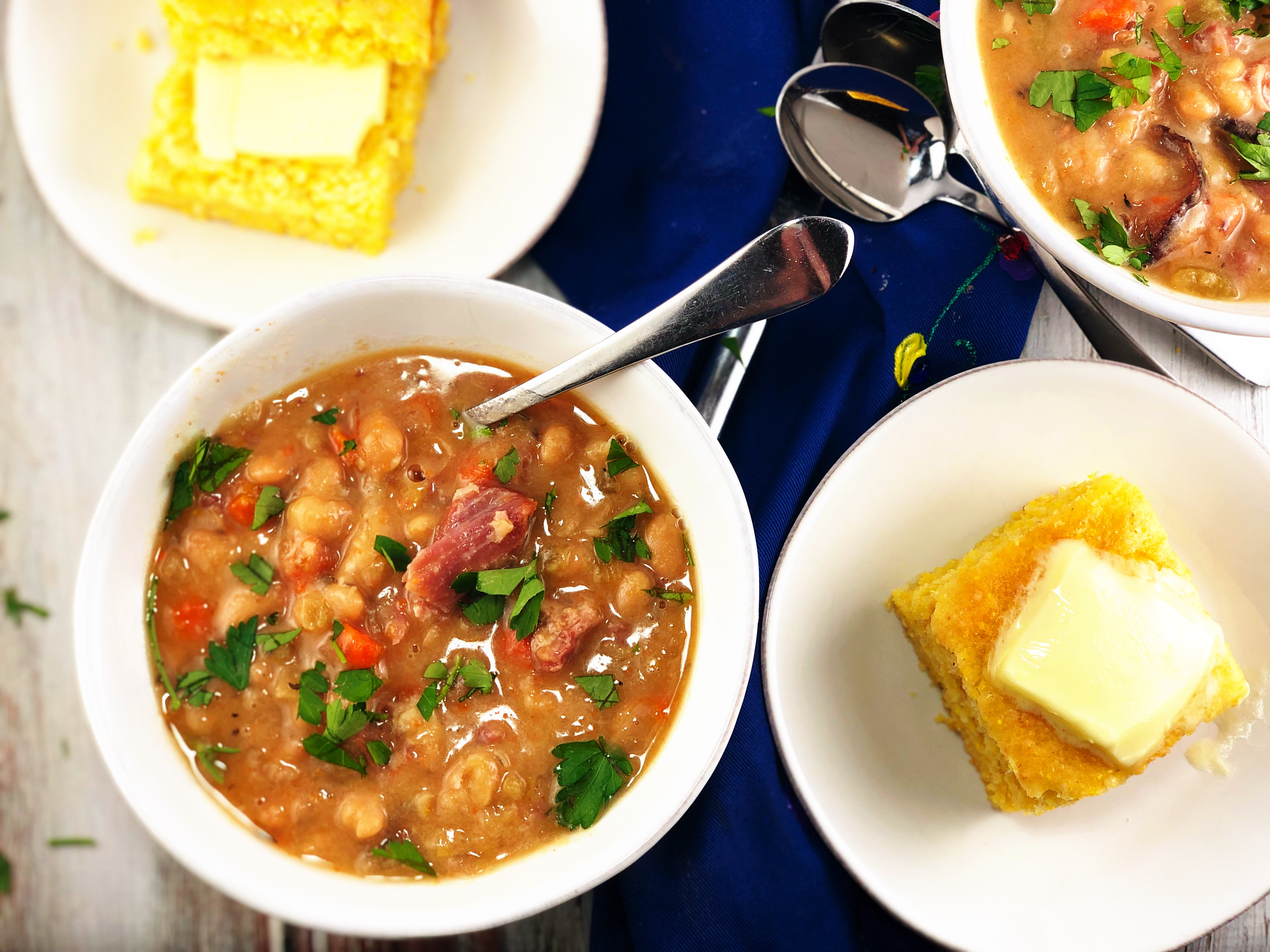 Easy Ham and Bean Soup Instant Pot