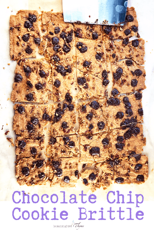 Chocolate Chip Cookie Brittle! A total taste SENSATION! #soeasy #onebowl