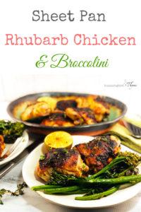 Sheet Pan Rhubarb Chicken