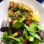 Grilled Swordfish Pepperoncini Caper Sauce