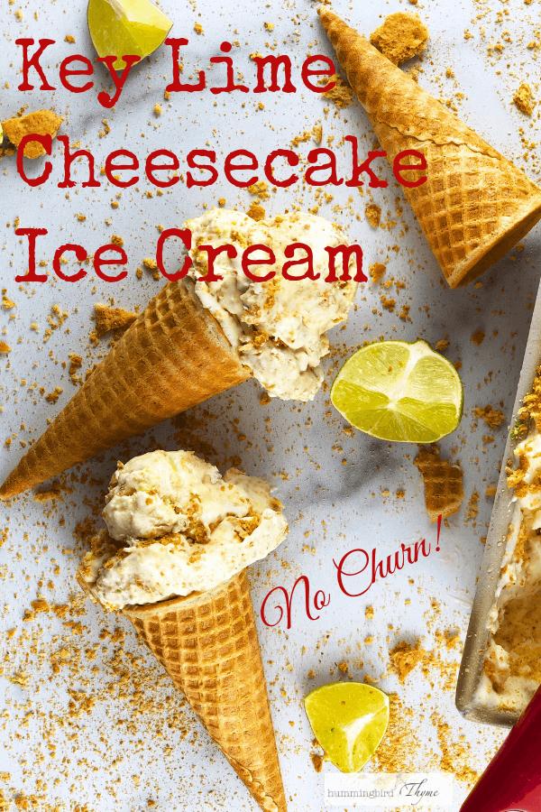 Key Lime Cheesecake No Churn Ice Cream