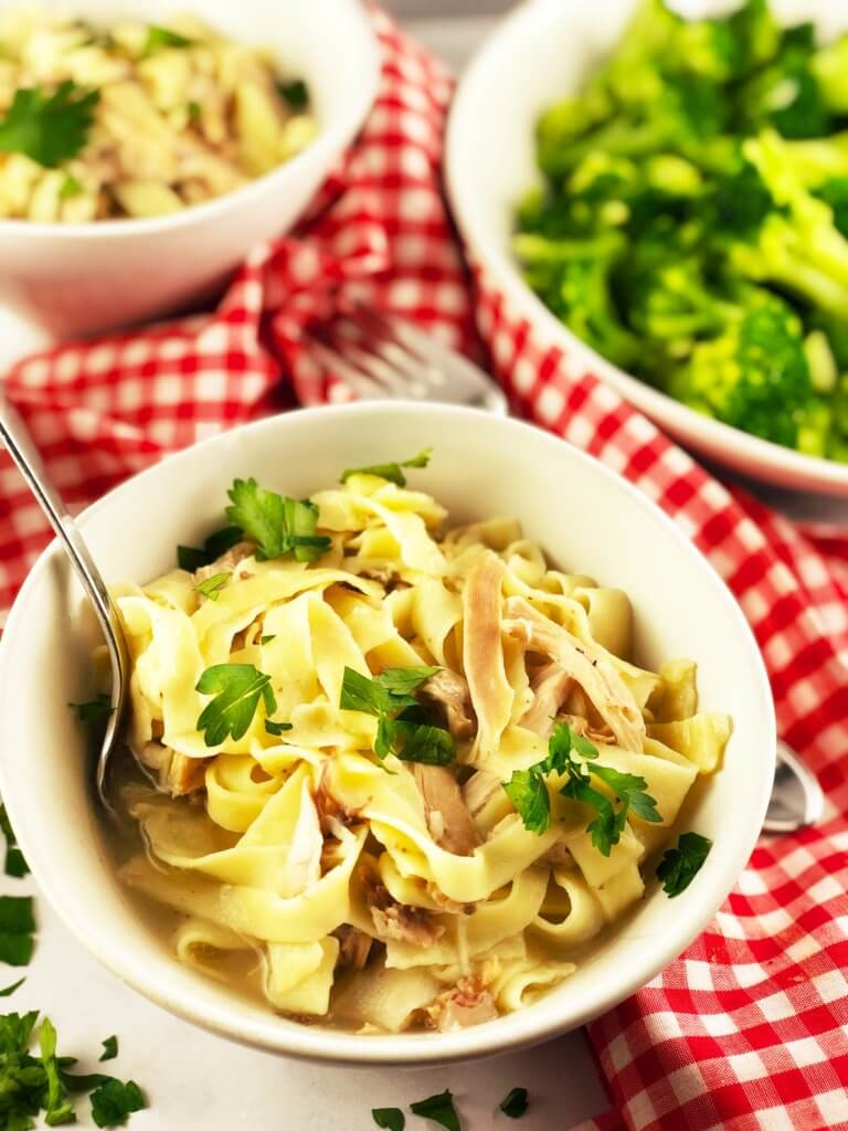 Homemade Chicken and Egg Noodles