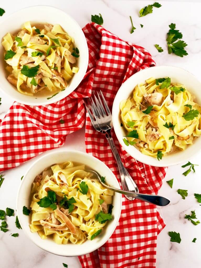 Homemade Egg Noodles with Chicken