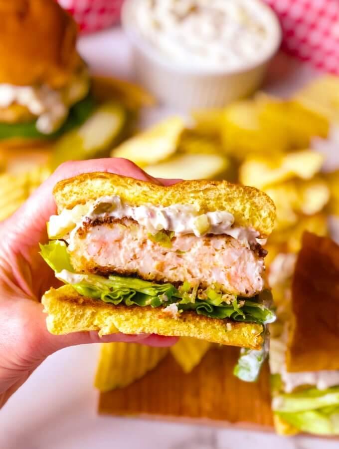 South Carolina Shrimp Burger