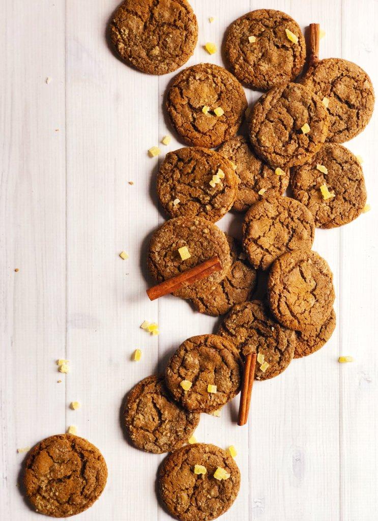 Molasses Ginger Rye Cookies
