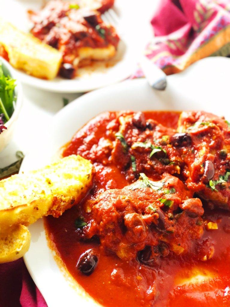 Quick Puttanesca Sauce with Chicken