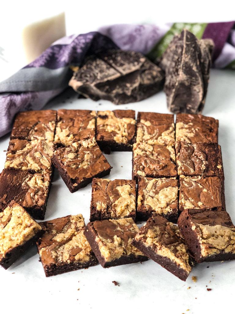 Tahini Fudge Brownies