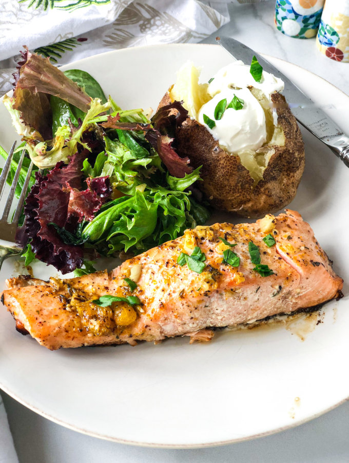 Middle Eastern flavored Salmon with Orange