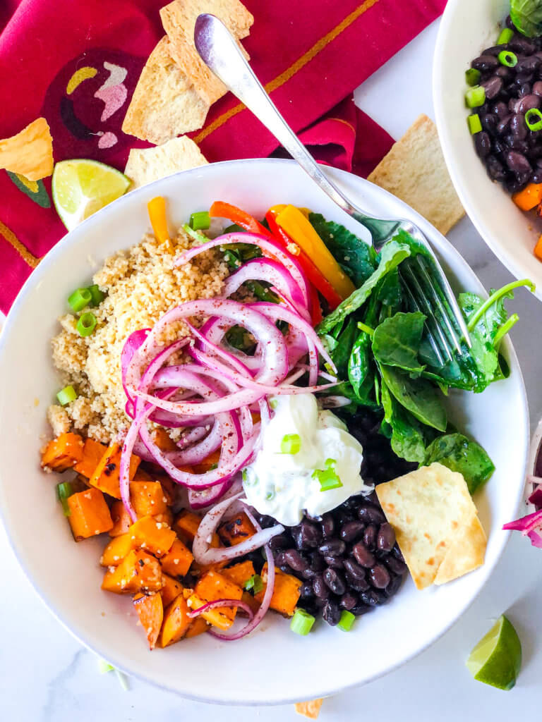 Couscous Buddha Bowl with Sumac Onions