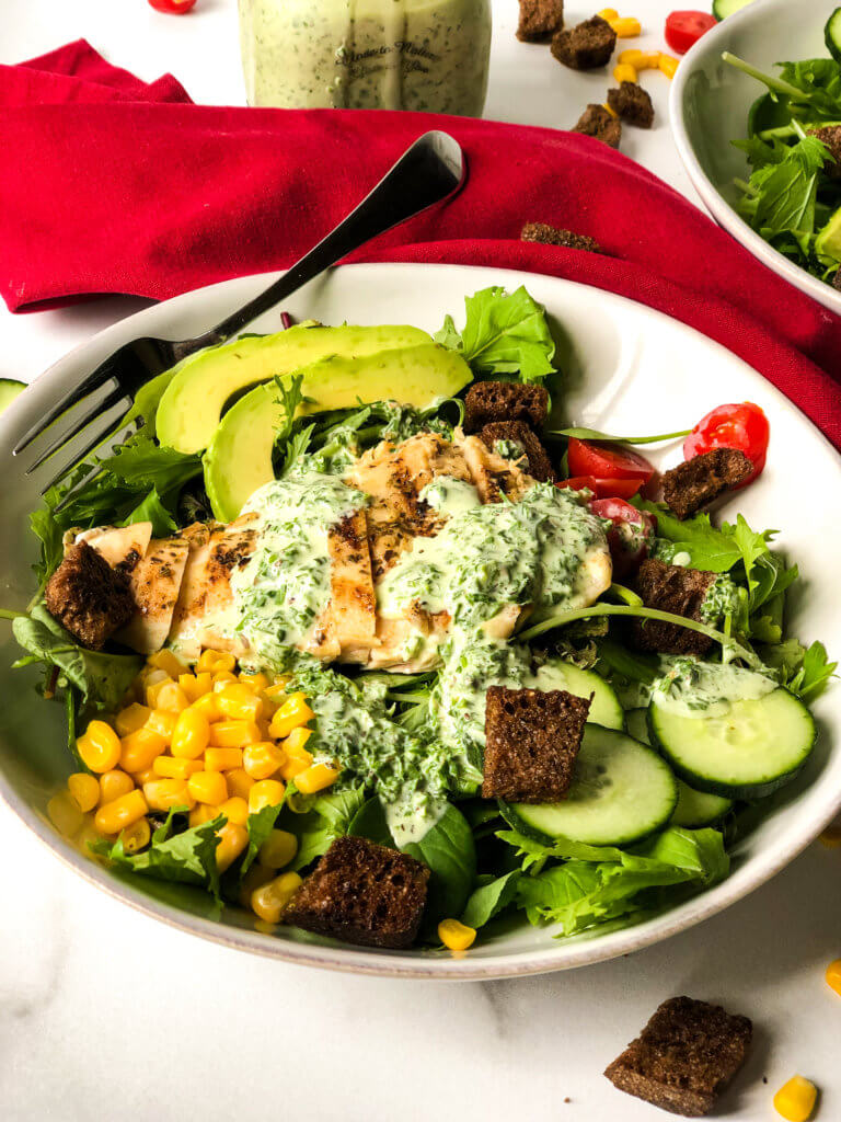 Chicken Salad with Green Goddess Dressing
