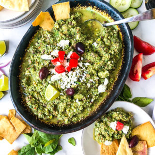 Greek Salad Dip Hummingbird Thyme