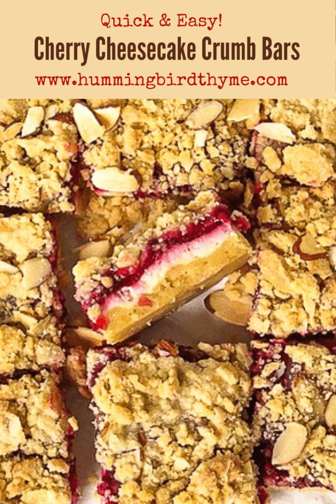 Cherry Cheesecake Bars Pinterest Image