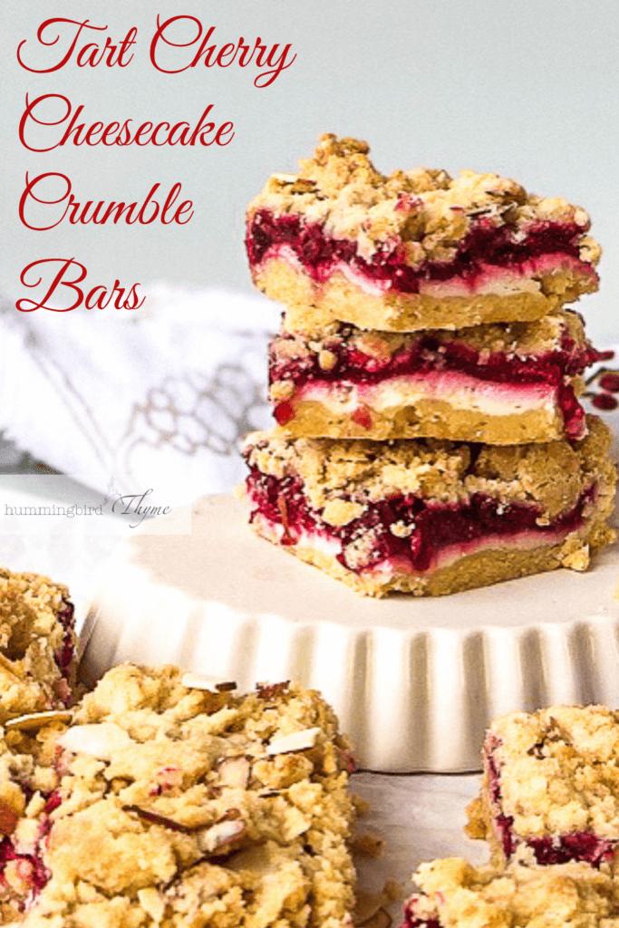 Cherry Crumb Bars Pinterest Image